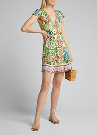 Alice + Olivia Hadley Button-Front Flared Dress