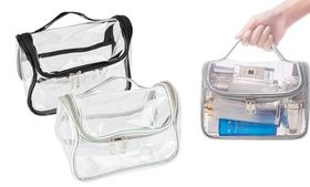 Transparent PVC Clear Toiletry Bag Cosmetic Travel