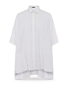 FRENCH CONNECTION - Aashi Striped Oversized Cotton