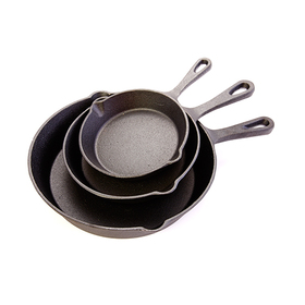 Healthy Living 3-Pack Cast Iron Skillet Set