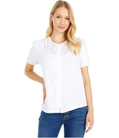 Lucky Brand Button-Down Knit Blouse