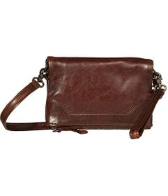 Frye Melissa Leather Stadium Bag Crossbody