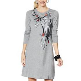 """""""As Is"""" Rara Avis by Iris Apfel Embroidered Knit D"""