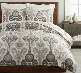 Pottery Barn Kenmare Handcrafted Cotton Quilt & Sh