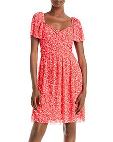 FRENCH CONNECTION - Leo Memphis Fit-and-Flare Dres
