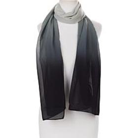"""""""As Is"""" Antthony Printed Ombre Chiffon Scarf"""