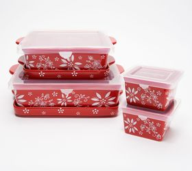 """As Is"" Temp-tations 6-Piece Classic Bakeware Set"