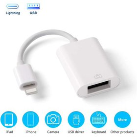USB Camera Adapter for iPad iPhone, OTG Cable Comp