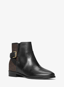 Michael Kors Salem Leather and Logo Ankle Boot