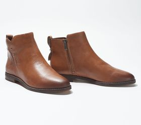 """As Is"" Franco Sarto Leather Booties - Owen - A394"