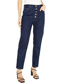 J Brand Heather High-Rise Button Fly in Perception