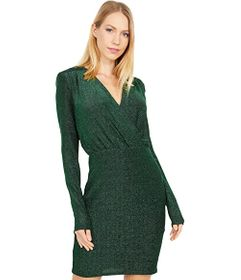 Bebe Lurex Blouson Dress