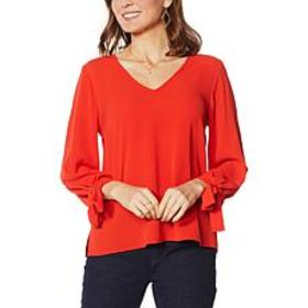 """As Is"" CeCe Tie-Sleeve Top"