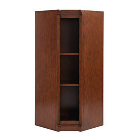 Cortona Corner Bookcase - Brown