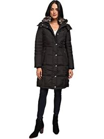 London Fog Quilted Puffer with Fur Collar
