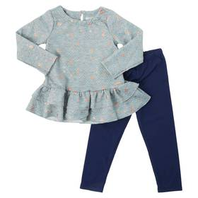 Baby Girl (12-24M) Nannette 2pc. Ruffle Top Set