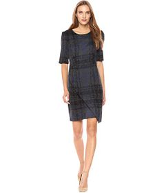 Betsey Johnson Asymmetrical Plaid Dress
