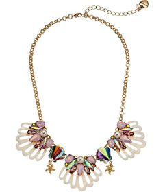 Betsey Johnson Shell Frontal Necklace