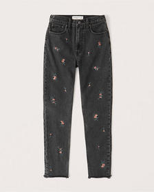 High Rise Skinny Jeans, EMBROIDERED WASHED BLACK
