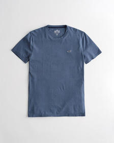 Hollister Must-Have Crewneck T-Shirt, NAVY BLUE TE