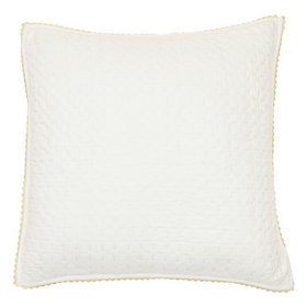 Lottie Crochet Quilted Sham - Ivory