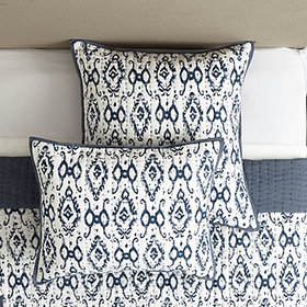 Liliana Ikat Quilted Sham - Spa
