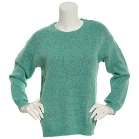 Womens Tint & Shadow Long Sleeve Crew Neck Sweater