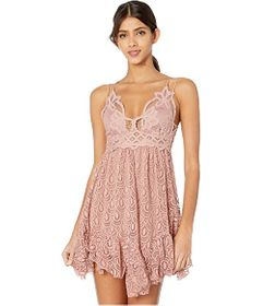 Free People Adella Burnout Velvet Slip