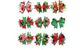 9 Pcs Girl Christmas Holiday Gift Snowflake Ribbon