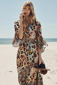 Anthropologie Zadie Leopard Maxi Dress