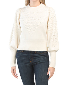 FRENCH CONNECTION Cropped Bobble Sweater