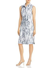 T Tahari - Snake Print Shirt Dress