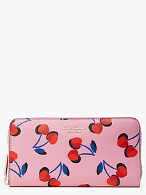 Kate Spade spencer cherries zip-around continental