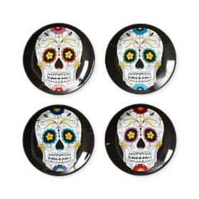 Day of the Dead Appetizer Plates, Set of 4, Mixed