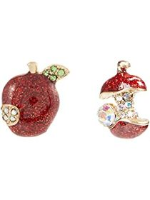 Betsey Johnson Apple Stud Earrings