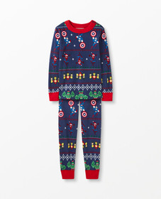 Hanna Andersson Marvel Fairisle Long John Pajamas