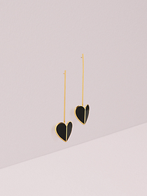 Kate Spade heritage spade linear earrings