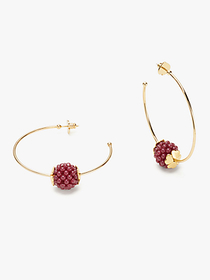 Kate Spade very berry hoops