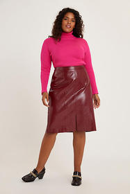 Anthropologie Maxine Faux Leather Pencil Skirt