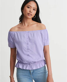 Convertible Smocked Waist Top