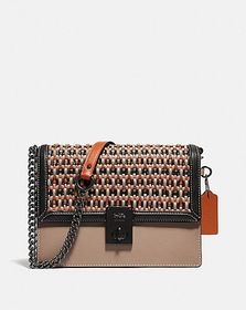 Coach hutton shoulder bag with weaving