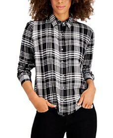 Plaid Button-Front Top, Created for Macy's