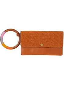 Fossil Leather Flap Wristlet Wallet