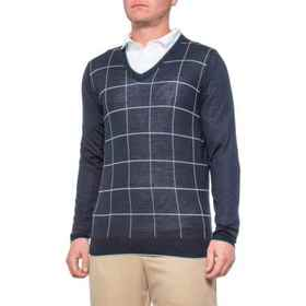Bobby Jones Merino Wool and Silk Deco Grid Golf Sw