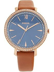 Fossil Jacqueline Three-Hand Leather Watch