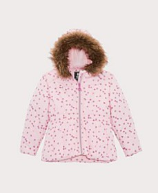 Toddler Girls Foil Print Puffer Coat