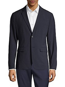 Theory Clinton Function Seersucker Textured Blazer