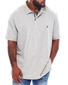 Nautica short sleeve solid anchor deck polo (b&t)