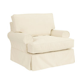 Davenport Club Chair Slipcover Only - Stocked