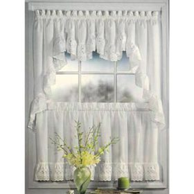 Vienna Eyelet Kitchen Curtains